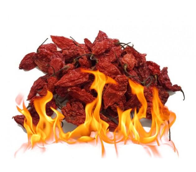 Dried Bhut Naga Jolokia Pods Hot Peppers 10g